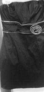 Little Black Dress Silver Zipper Rose🌹
